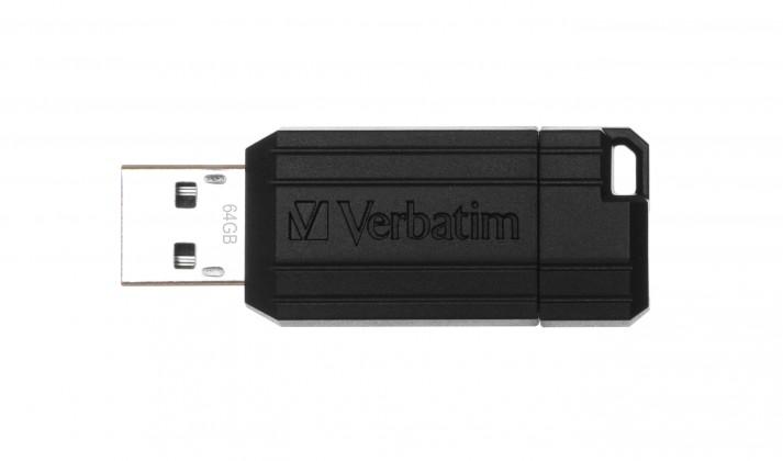 USB 2.0 flash disky Verbatim Store 'n' Go PinStripe 64GB čierny
