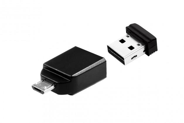 USB 2.0 flash disky Verbatim Store 'n' Stay Nano 8GB čierny