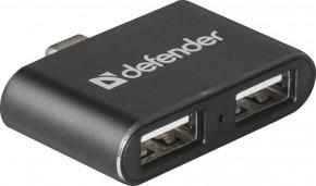 USB 2.0 hub Defender Quadro Dual (83207)