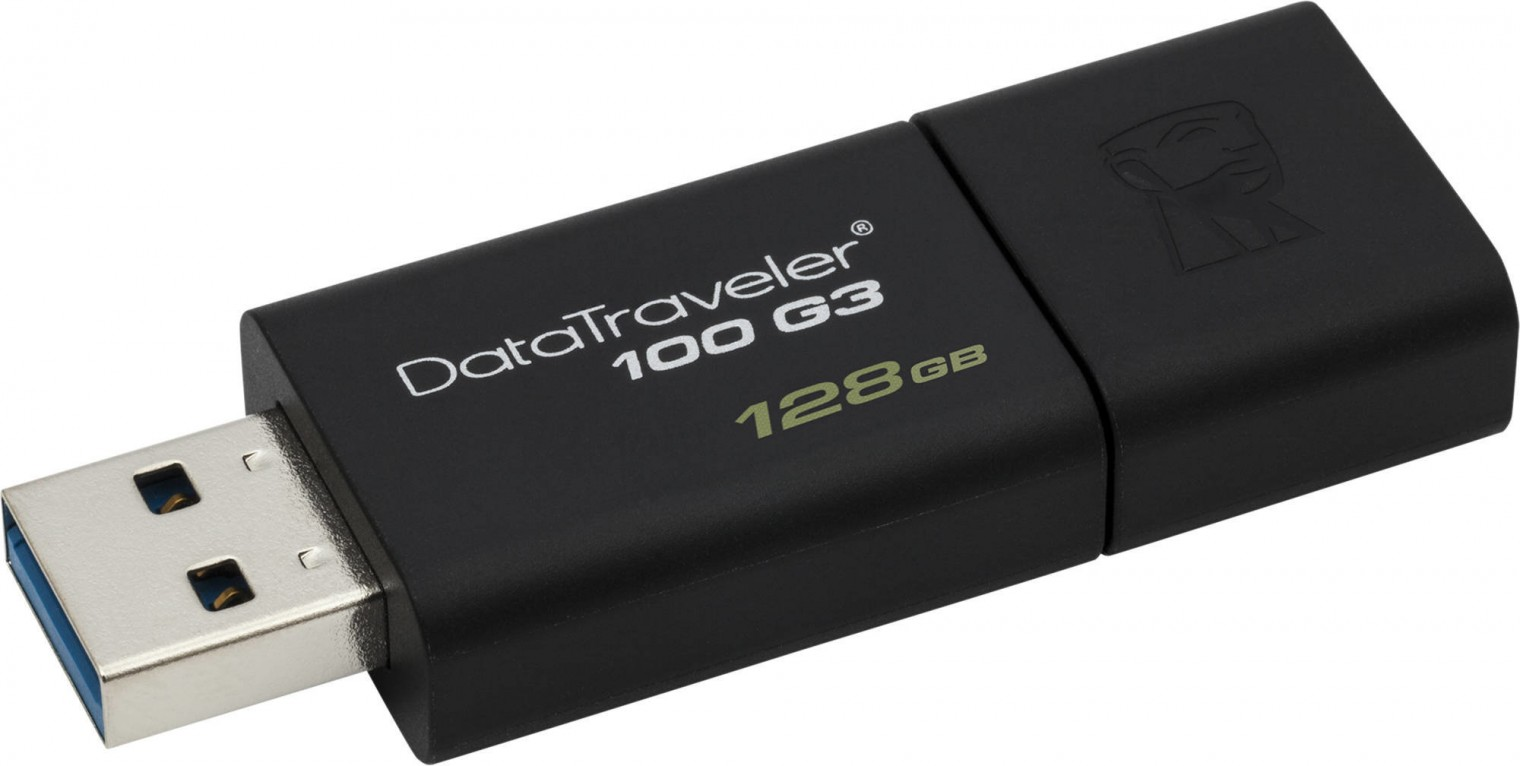 USB 3.0 flash disky 128GB Kingston USB 3.0 DataTraveler 100 G3 (100MB/s čtení)