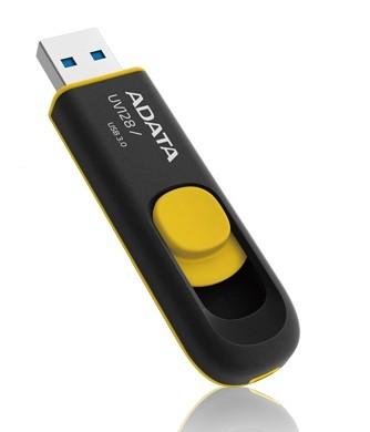 USB 3.0 flash disky A-Data UV128 16GB, USB 3.0, čierno-žltý ROZBALENÉ