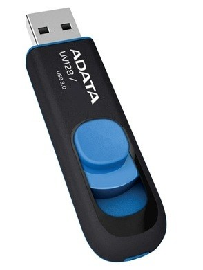 USB 3.0 flash disky A-Data UV128 64GB, USB 3.0, čierno-modrý