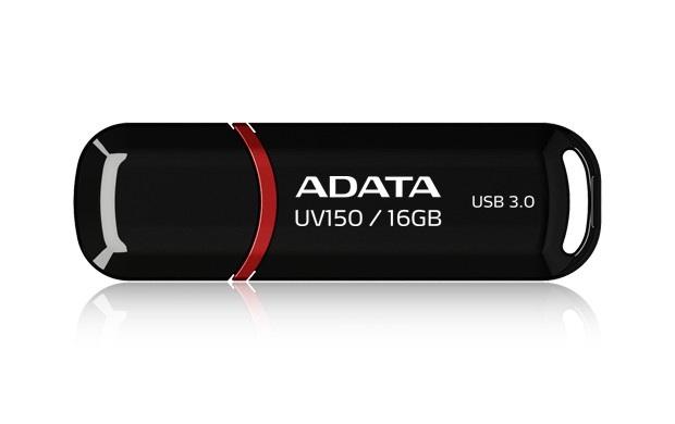 USB 3.0 flash disky A-Data UV150 16GB, USB 3.0, čierný