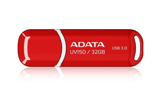 USB 3.0 flash disky A-Data UV150 32GB, USB 3.0, červený