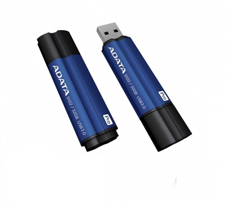 USB 3.0 flash disky Adata Superior S102 Pro 32GB, USB 3.0, modrý