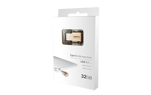 USB 3.0 flash disky ADATA UC350 32GB (AUC350-32G-CGD) zlatá