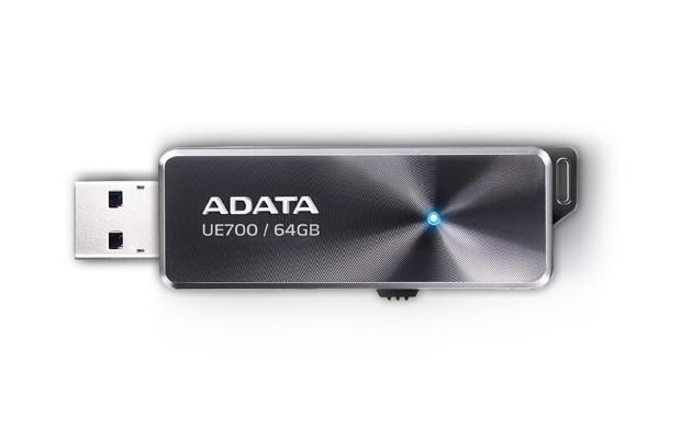 USB 3.0 flash disky ADATA UE700 64GB, USB 3.0, čierna