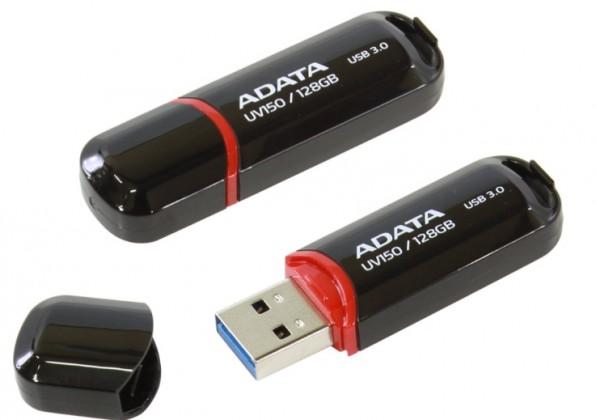 USB 3.0 flash disky ADATA USB UV150 128GB black (USB 3.0)