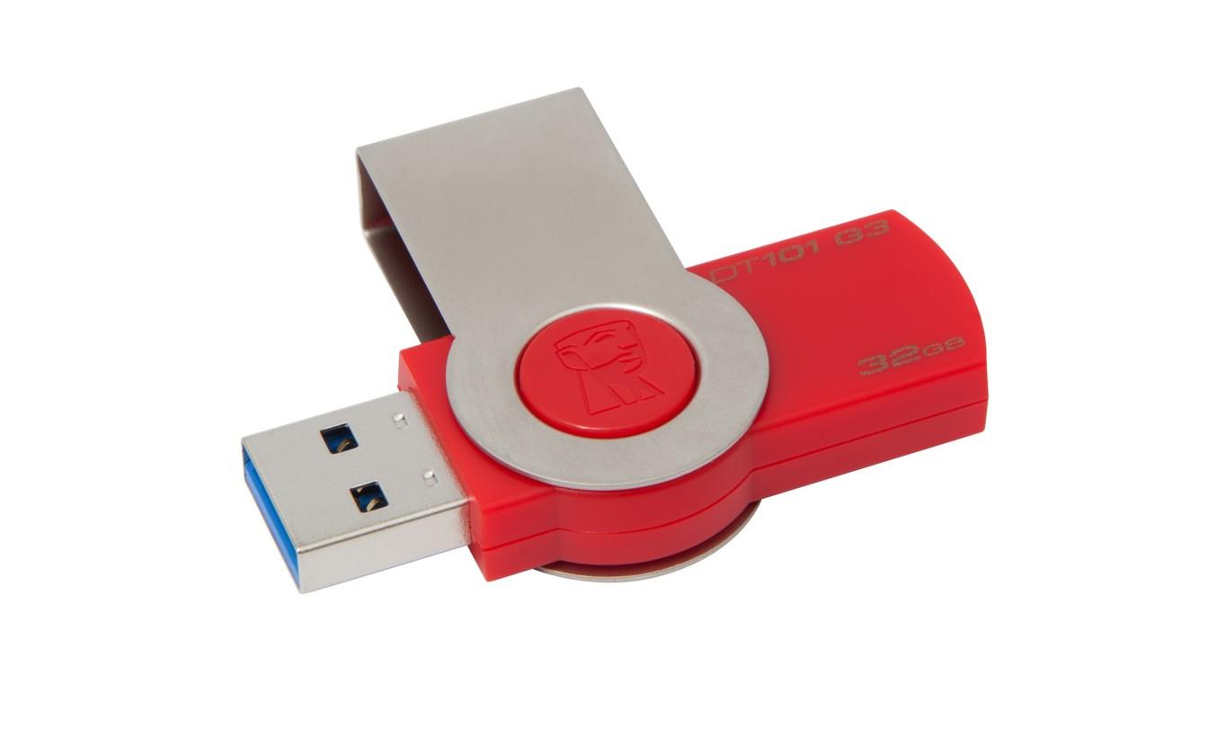 USB 3.0 flash disky Kingston DataTraveler 101 GEN3 32GB, červená - DT101G3/32GB