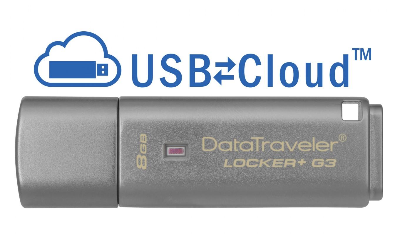 USB 3.0 flash disky Kingston DataTraveler Locker+ G3 8GB