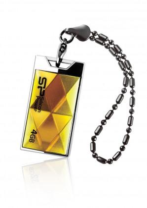 USB flash disk  Silicon Power 4GB USB Flash disk Touch 850/Zlatý