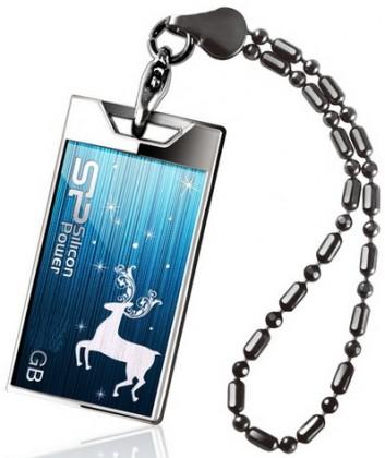 USB flash disk  Silicon Power 8GB USB Flash disk Touch 850/Modrý/Limitovaná Edice