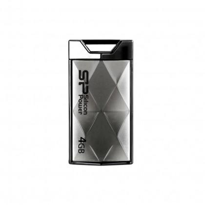 USB flash disk  Silicon Power Touch 850 4GB stříbrný