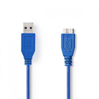 USB káble Kábel zástrčka USB 3.0 A#zástrčka USB micro B,1,00 m-VLCP61500L10