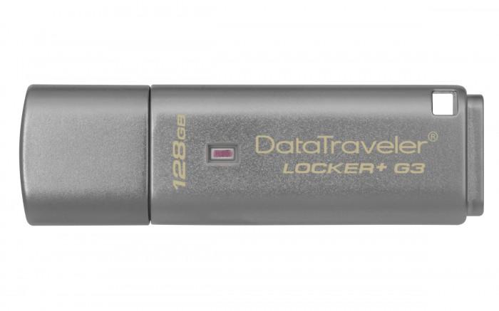 USB kľúč 128GB Kingston DT Locker+ G3, 3.0 (DTLPG3/128GB)