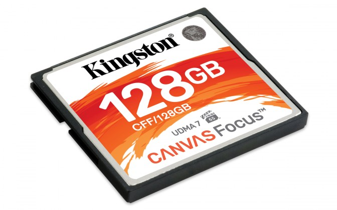 USB kľúče 128 GB 128GB CompactFlash Canvas Focus Kingston