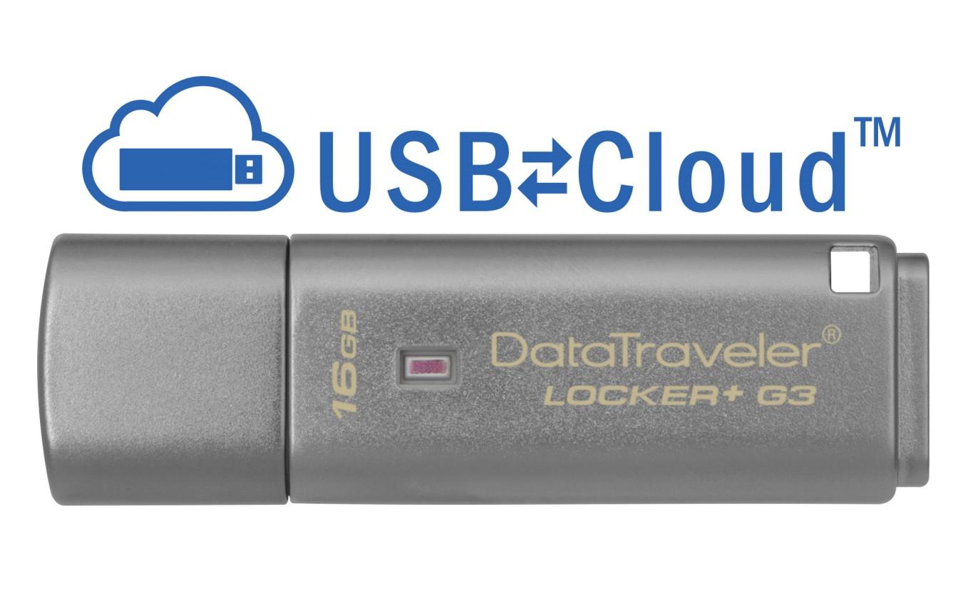 USB kľúče 16 GB USB kľúč 16GB Kingston DT Locker+ G3, 3.0 (DTLPG3/16GB)