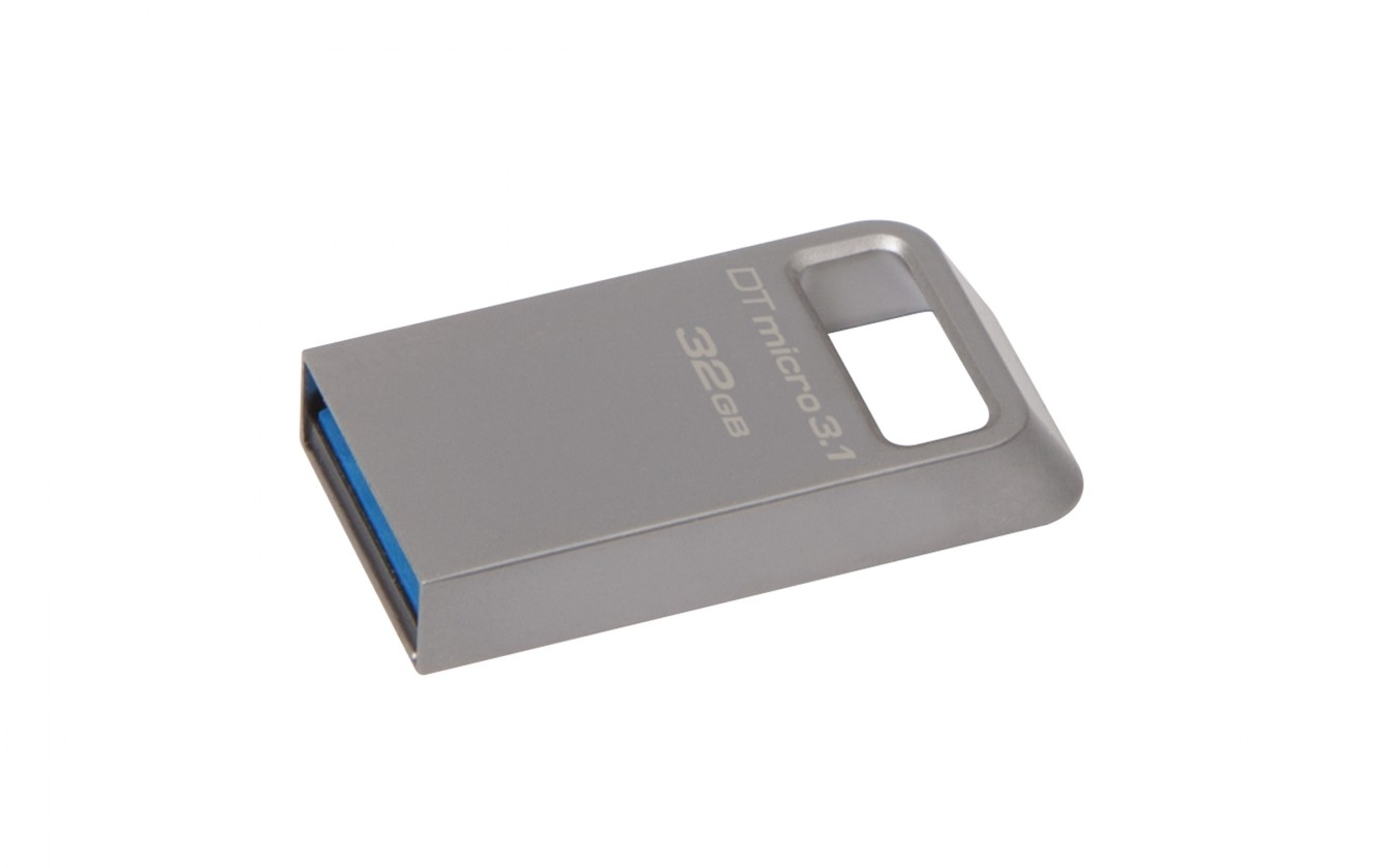 USB kľúče 32 GB Kingston DataTraveler Micro 3.1 32GB USB 3.0 (DTMC3/32GB) striebo