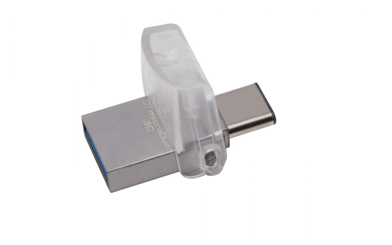 USB kľúče 64 GB Kingston DataTraveler MicroDuo 3C 64GB USB 3.0 (DTDUO3C/64GB)