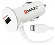USB nab. autoadaptér SKROSS Midget Plus, Apple Lightning, 1000mA
