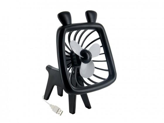 USB príslušenstvo 4World USB ventilátor Animal, silent Wave, čierny ROZBALENÉ
