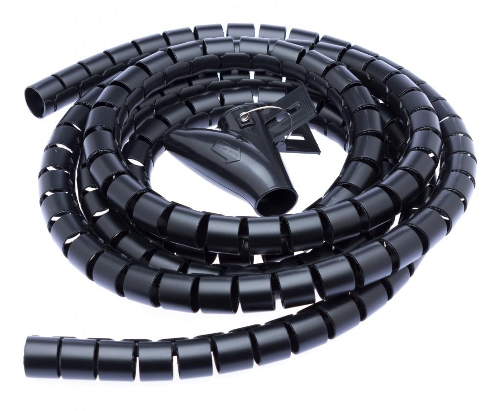 USB príslušenstvo Connect IT CI-514,Trubice na vedení kabelů,2,50m,20mm,černá