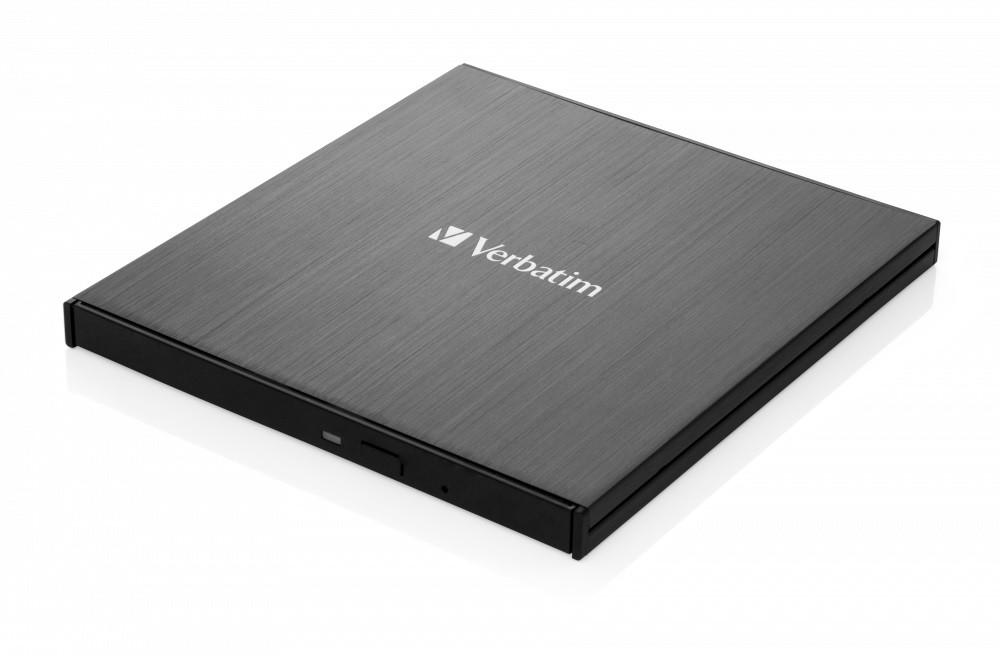 USB príslušenstvo VERBATIM Externá Blu-Ray Slimline mechanika USB 3.1, čierna