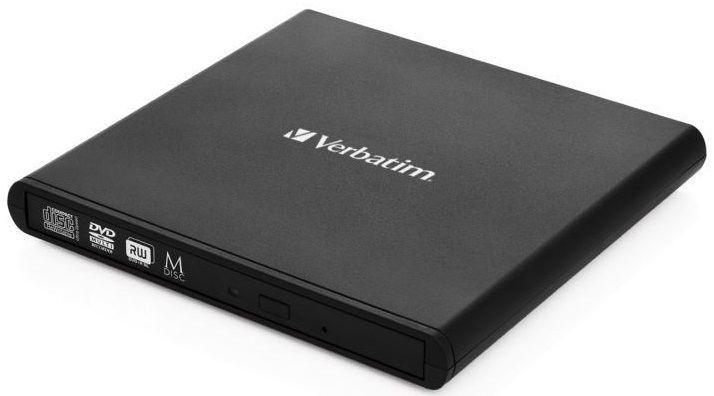 USB príslušenstvo VERBATIM Externá CD / DVD Slimline mechanika USB 2.0
