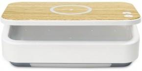 UV sterilizátor IMMAX UV-C pre respirátory s QI nabíjaním, biely