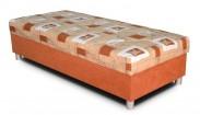 Váľanda George 90x200, oranžová, vrátane matraca a úp
