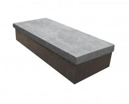Váľanda Iva 80x200, šedá, vrátane úp