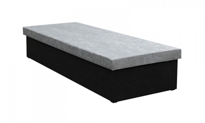 Váľanda Váľanda Iva 80x200, čierna/šedá, vrátane úp