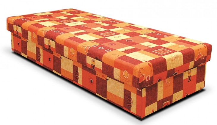 Váľandy Váľanda Dana 90x200, oranžová, vrátane matraca a úp