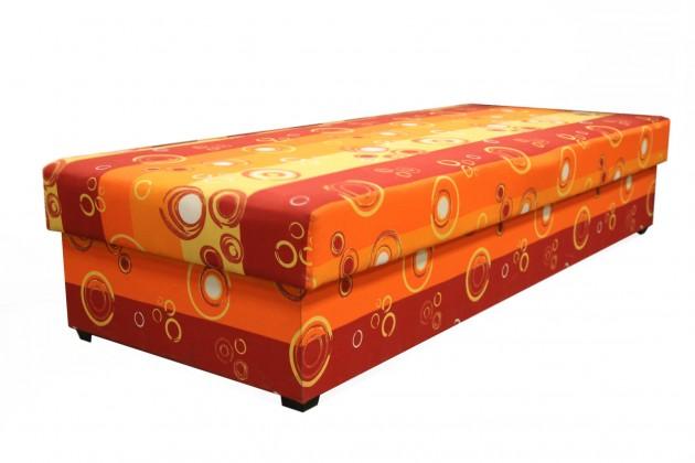 Váľandy Váľanda Iveta 80x200, oranžová, vrátane matraca a úp