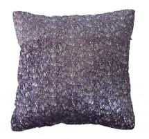 Vankúš DP135 (45x45 cm, fialová, strieborná)