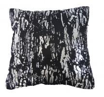 Vankúš DP141 (45x45 cm, čierna, strieborná)