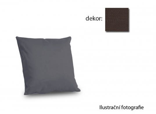 Vankúšiky k sedačkám Amora - vankúš 40x40cm (vincent art-brown)
