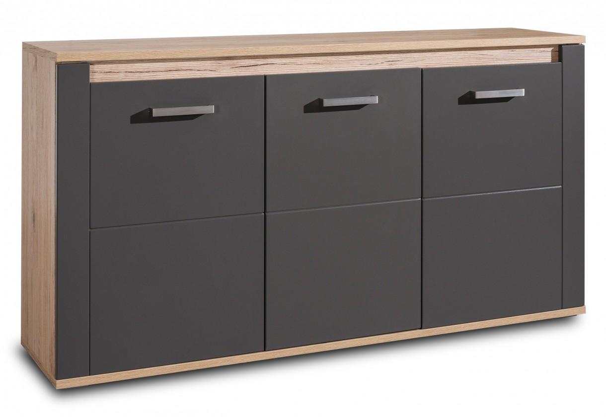 Varino-405912(san remo sand LDTD / grafit matná MDF)