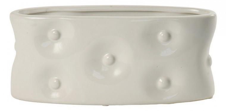 Váza keramická - 13,5 cm (keramika, biela)