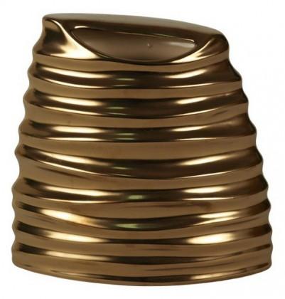 Váza keramická - 18 cm (keramika, zlatá)