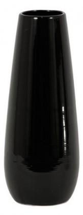 Váza keramická - 30 cm (keramika, čierna)