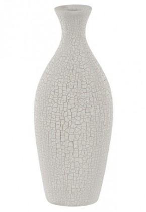 Váza keramická-32 cm (keramika,krémová,struktura s prasklinami)