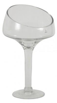 Váza sklenená - 34 cm (sklo, číra)