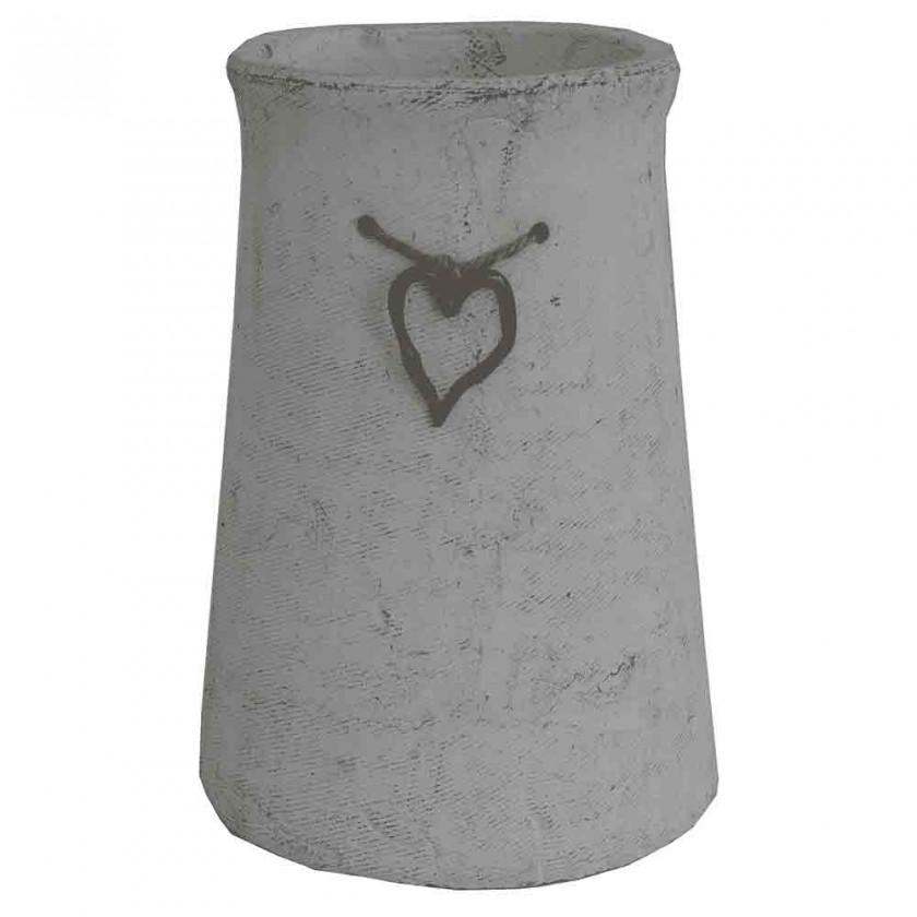 Vázy Cementová váza CV03 so srdiečkom (25 cm)