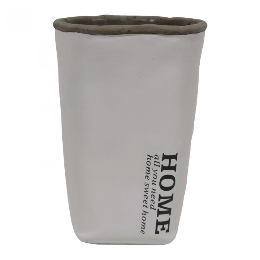 Vázy Cementová váza CV04 biela (20 cm)