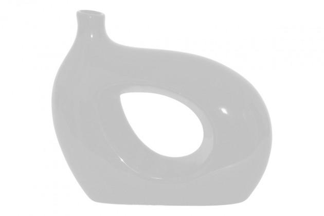 Vázy Keramická váza VK03 (biela, 25 cm)