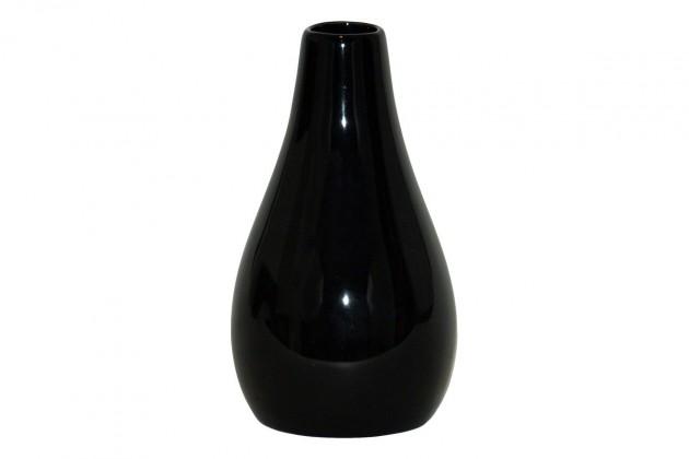 Vázy Keramická váza VK04 (čierna, 22 cm)