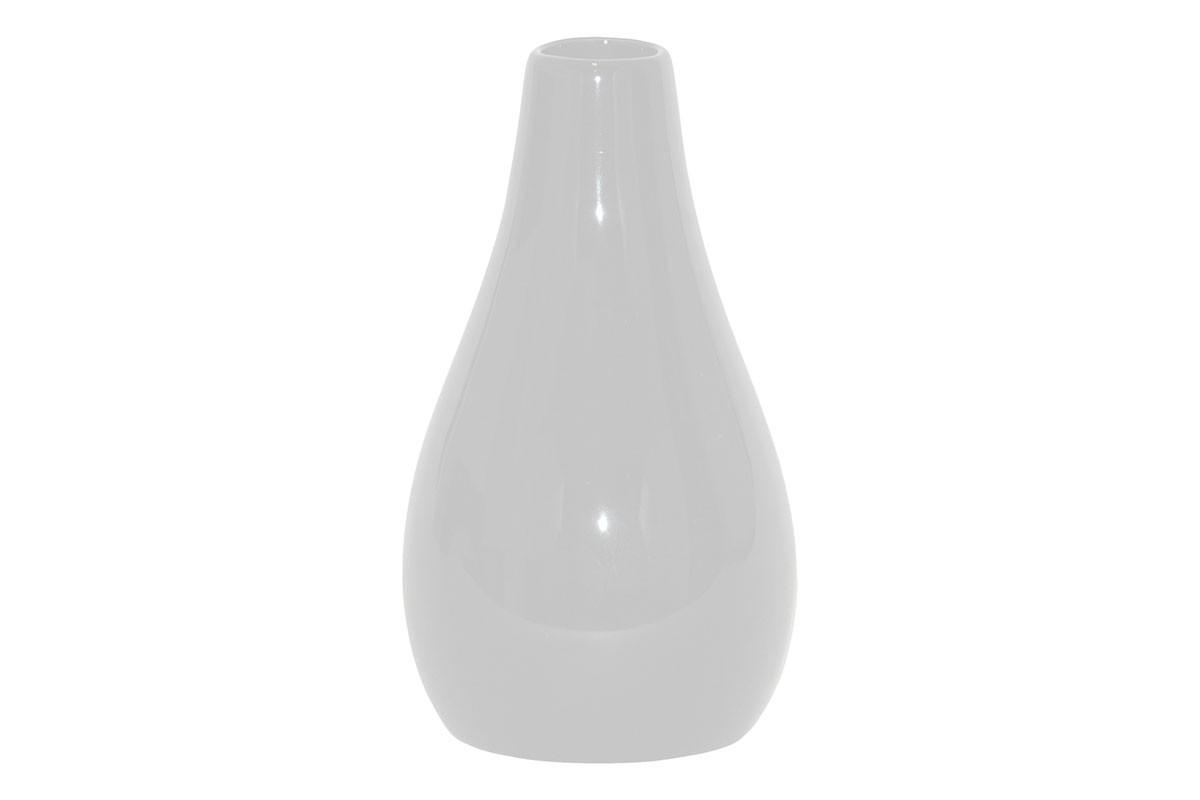 Vázy Keramická váza VK05 (biela, 25,5 cm)