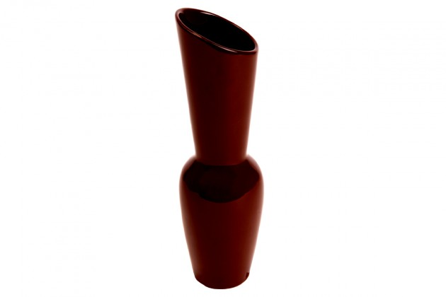 Vázy Keramická váza VK11 (hnedá, 26,5 cm)