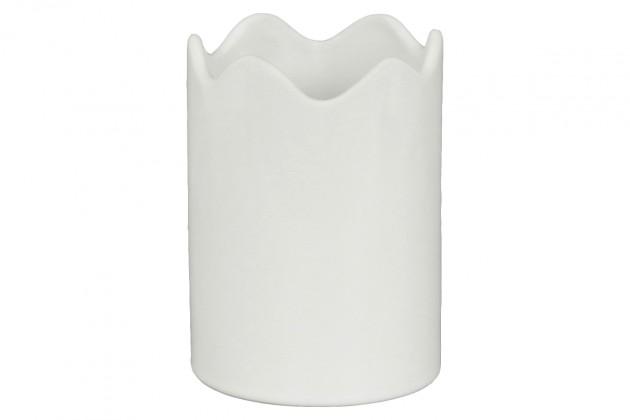 Vázy Keramická váza VK15 (biela, 12 cm)